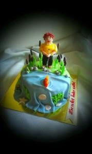 Торт для женщин рыбалка