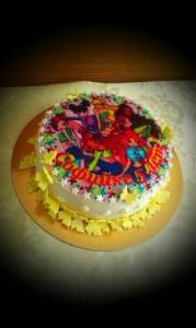 Торт с вафельной картинкой Винкс