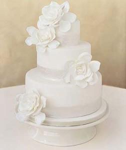 торт белый на свадьбу