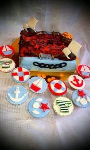 торт детский пираты
