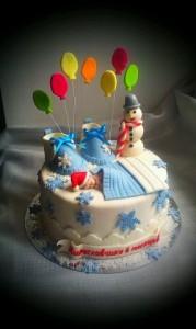 торт для детей зимний