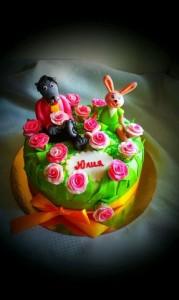торт для девочки ну погоди