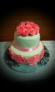 торт для женщины 2 яруса