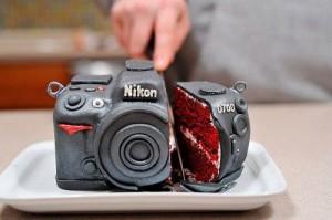 торт фотоапарат