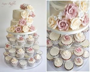 торт и капкейки на свадьбу