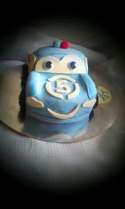 торт машина голубая