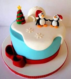 торт на новый год пингвины на заказ