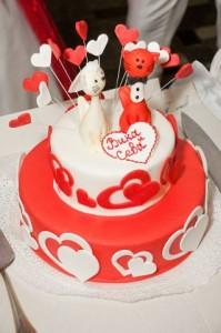 торт на заказ на день святого Валентина