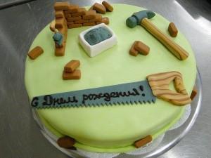 торт строителю
